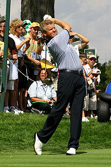 Golf Photos - Colin Montgomerie - Montgomerie practicing before the 2004 Ryder Cup