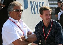 Motorsports Photos - Mario Andretti - Mario (left) with nephew John (right) at the 2007 Indianapolis 500
