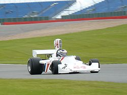 Motorsports Photos - James Hunt - Hunt's Hesketh 308 from 1975 being driven by his son