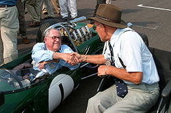 Motorsports Photos - Jack Brabham - Brabham continued his involvement in motorsport after his retirement. Here