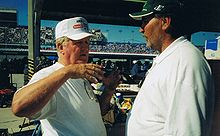 Motorsports Photos - James Hylton - Hylton teaching Jim Lamorauex how to run Daytona 1999