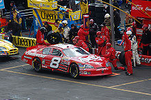 Motorsports Photos - Dale Earnhardt, Jr. - Jr. in the pits at the spring 2006 Bristol race.