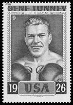 Boxing Photos - Gene Tunney - Stamp honoring Tunney