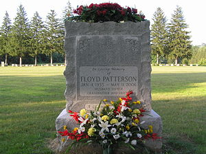 Boxing Photos - Floyd Patterson - The grave of Floyd Patterson