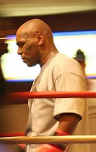 Boxing Photos - Mike Tyson - Mike Tyson in the ring