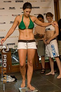 "Boxing Photos - Gina Carano - <strong class=""selflink"">Gina Carano</strong> weighs in before a fight."