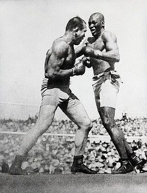 Boxing Photos - James J. Jeffries - James Jeffries during his fight with Jack Johnson