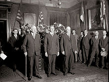 Tennis Photos - Dwight F. Davis - Swearing in of Davis as Secretary of War in 1925