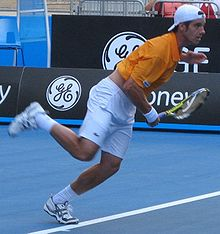 Tennis Photos - Richard Gasquet - Richard Gasquet in the first round at the 2008 Australian Open