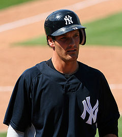 Baseball Photos - Nick Green - Green during his tenure with the New York Yankees in 2006.
