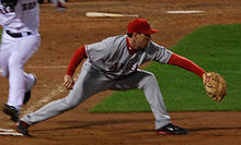 Baseball Photos - Mark Teixeira - Teixeira playing for the Angels in 2008 American League Division Series Game 4 on October 6.