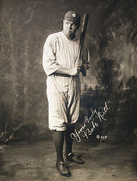 Baseball Photos - Ben Paschal - Paschal was considered Babe Ruth's understudy when he first arrived in the American League.