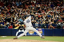 Baseball Photos - Andy Pettitte - Pettitte pitching at Shea Stadium in 2007