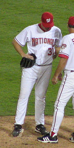 Baseball Photos - Darrell Rasner - Rasner with the Washington Nationals on October 1