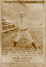 Baseball Photos - Adonis Terry - An early tobacco card of Adonis Terry