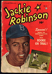Baseball Photos - Jackie Robinson - Cover of a Jackie Robinson comic book
