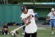 Baseball Photos - Candy Maldonado - Maldonado at a free baseball clinic in Argentina in 2009.