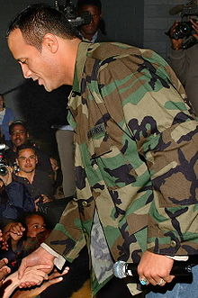 Sports Photos - The Rock (Dwayne Johnson) - Dwayne Johnson greeting fans in 2006