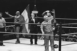 Sports Photos - Iron Sheik - Shiek with Freddie Blassie and Nikolai Volkoff.