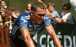 Sports Photos - Lance Armstrong - Lance Armstrong finishing 3rd in Sète