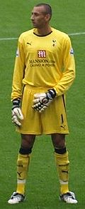 Soccer Photos - Gomes - Gomes lining up for a match with Spurs against Chelsea.
