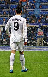 "Soccer Photos - Cristiano Ronaldo  - Cristiano Ronaldo has trademarked ""CR9"" for promotional purposes."