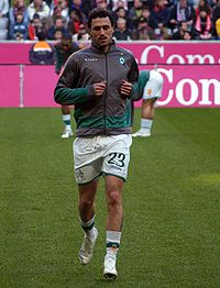 Soccer Photos - Hugo Almeida - Almeida with Werder Bremen