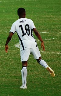 Soccer Photos - Eric Addo - Addo warms up at the African Cup of Nations 2008.