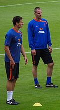 Soccer Photos - André Ooijer - Ooijer (right) with Khalid Boulahrouz during a training in preparation for Euro 2008.