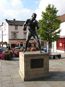 Boxing Photos - Randy Turpin - Statue of Randolph Turpin in Market Square