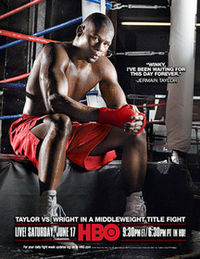 Boxing Photos - Jermain Taylor - HBO promotional poster for Jermain Taylor vs. Winky Wright
