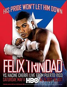 Boxing Photos - Félix Trinidad - Promotional poster for Trinidad versus Cherifi