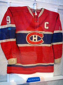 Hockey Photos - Maurice Richard - Jersey worn by Richard during his final season.
