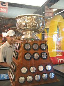 Hockey Photos - Art Ross - The Art Ross Trophy. Ross donated the trophy in 1947 to be awarded to the leading scorer in the NHL regular season.