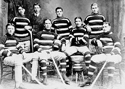 Hockey Photos - Harvey Pulford - Harvey Pulford (2nd from the left - front row) as a member of the 1905 Ottawa Silver Sevens