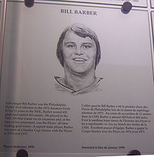 Hockey Photos - Bill Barber - Bill Barber's plaque in the Hockey Hall of Fame.