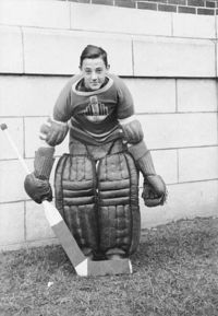 Hockey Photos - Jacques Plante - Jacques Plante in the 1944 - 1945 season aged 15 or 16