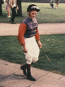 Horse Racing Photos - Harold Russell Maddock - Russ Maddock in Her Majesty's colours