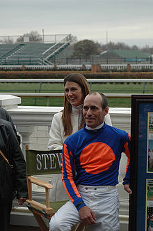 Horse Racing Photos - Gary Stevens - <center><b>Gary Stevens at his retirement with his wife