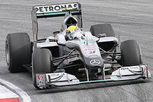 Motorsports Photos - Mercedes-Benz - Nico Rosberg scored Mercedes' first podium finish as a works team since 1955 at the 2010 Malaysian Grand Prix.