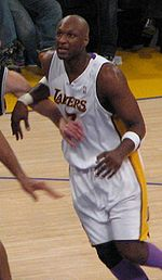 Basketball Photos - Lamar Odom - Lamar Odom in a Lakers vs Spurs game in 2006%E2%80%9307 NBA season