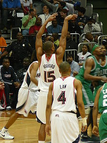 Basketball Photos - Al Horford - Horford shoots a free throw during the 2008 NBA Playoffs.
