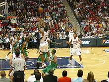 Basketball Photos - Joe Johnson - Johnson (#2) shoots a three against the Boston Celtics during the 2008 NBA playoffs.