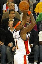 Basketball Photos - Stephen Jackson - Jackson takes a jump shot.