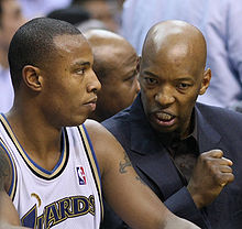 Basketball Photos - Sam Cassell - Cassell (right) talking to Caron Butler