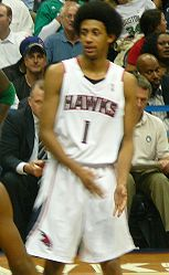 Basketball Photos - Josh Childress - Childress with the Atlanta Hawks in 2008.