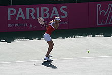 Tennis Photos - Maria Sharapova - Sharapova playing for the Russian Fed Cup team against Israel in 2008.