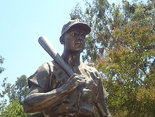 Baseball Photos - Ralph Kiner - A statue of Kiner at Almansor Park in his boyhood town of Alhambra