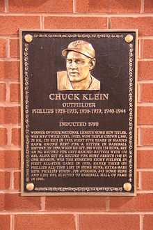 Baseball Photos - Chuck Klein - Klein was inducted into the Philadelphia Baseball Wall of Fame in 1980.