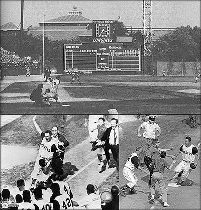 Baseball Photos - Bill Mazeroski - Montage of Mazeroski's 1960 World Series winning home run